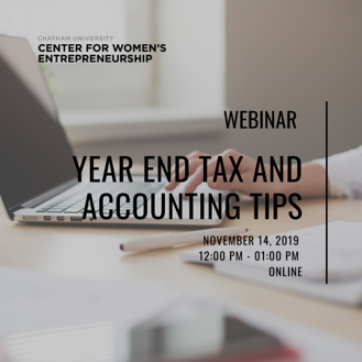 Webinar: Year End Tax and Accounting Tips