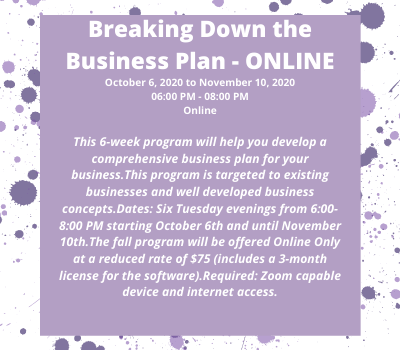 Breaking Down the Business Plan