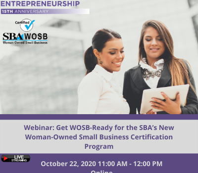 Get WOSB-Ready for the SBA's new Woman-Owned Small Business Certification Program
